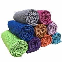 Холодное полотенце Летнее спортивное охлаждающее полотенце переохлаждение крутое полотенце 90*35 см для детей и взрослых двухцветное крутое полотенце