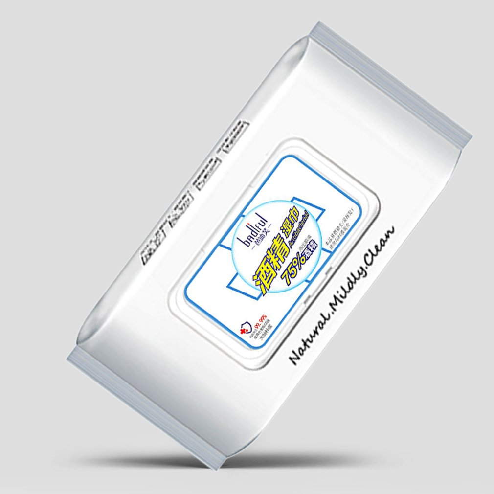 80Pcs / Bag 75% Alcohol Wipes Disposable Disinfection Alcohol Wipes Hospital Alcohol Disinfection Piece