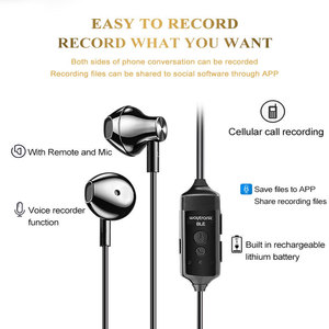 Image 4 - הקלטת שיחות אוזניות עם משלוח APP קול שיחת הקלטת פונקצית הוא רק זמין עבור iPhone