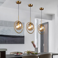 Modern Pendant Light Loft Decor Glass Ball Lamp Bar Light Kitchen Industrial Lamp In Bedroom Nordic Gold Vintage Hanging Lights modern loft industrial g9 led pendant lights gold bar stair hanging light dining 12 lights glass ball retro gold pendant lamp