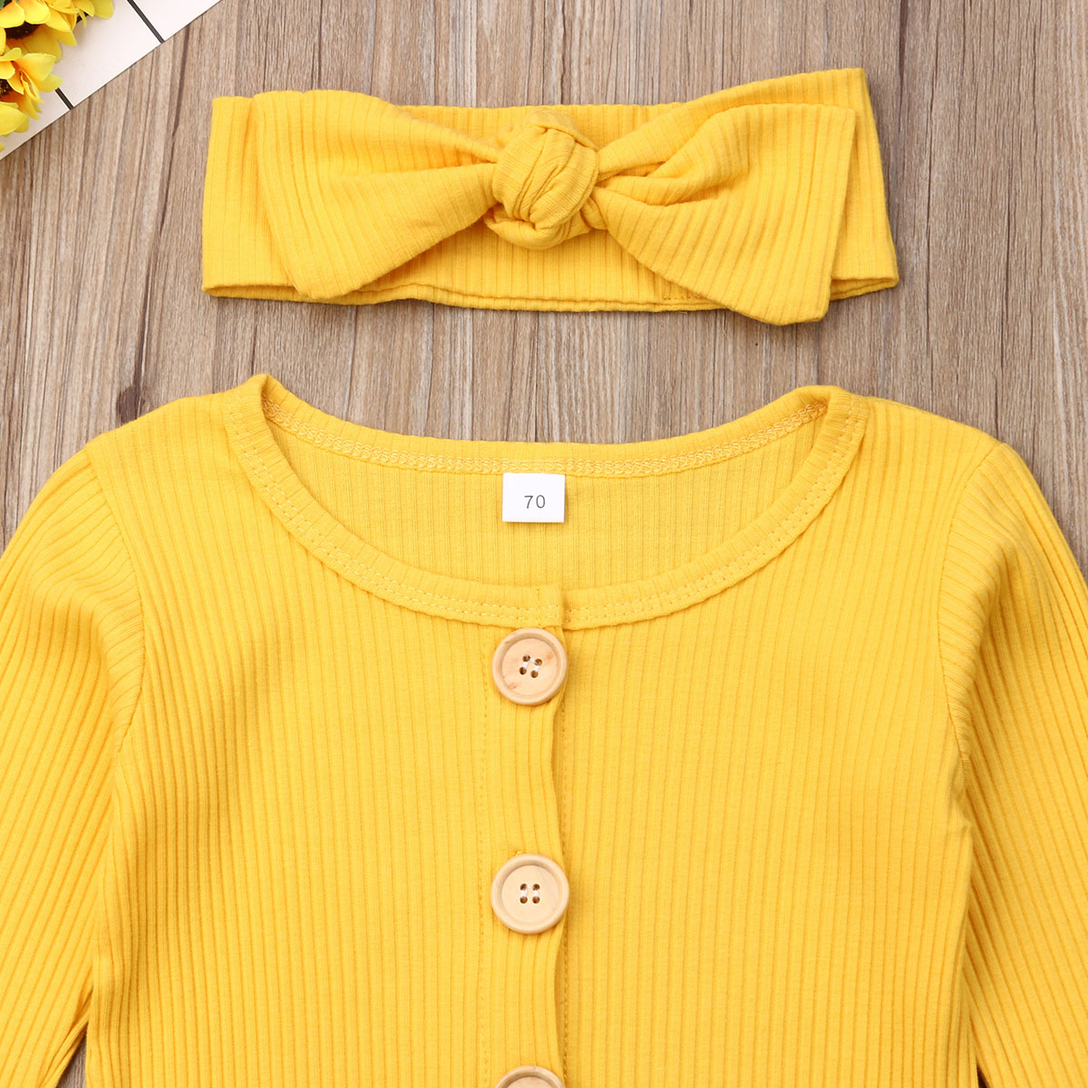 H65d5fa5d2a5f4c12a95ad17f9f29407d4 Spring Fall Newborn Baby Girl Boy Clothes Long Sleeve Knitted Romper + Headband Jumpsuit 2PCS Outfit 0-24M