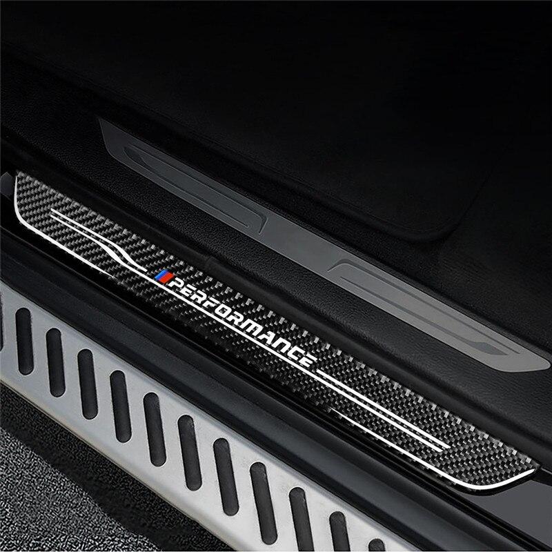 Pédales de bienvenue pour porte de voiture en acier inoxydable pour BMW X1 X3 X5 X6 E60 E90 F25 F30 F32 F34 F35 protecteurs de seuil accessoires de plaque de seuil - 3
