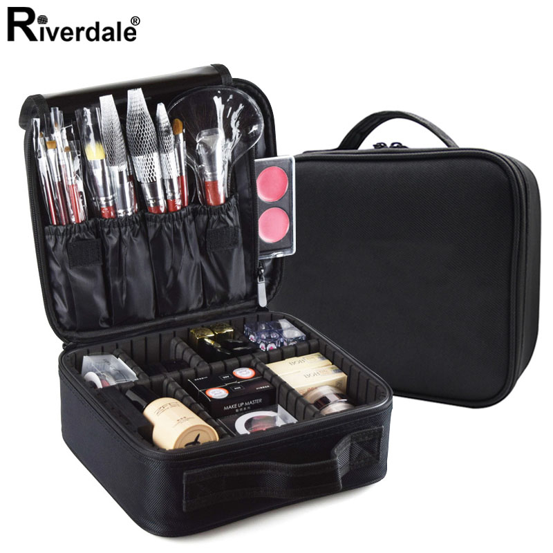 High Quality Professional Cosmetic Storage Bag Oxford Manicure Case Women Waterproof Makeup Case Beautician Cosmetics Organizer