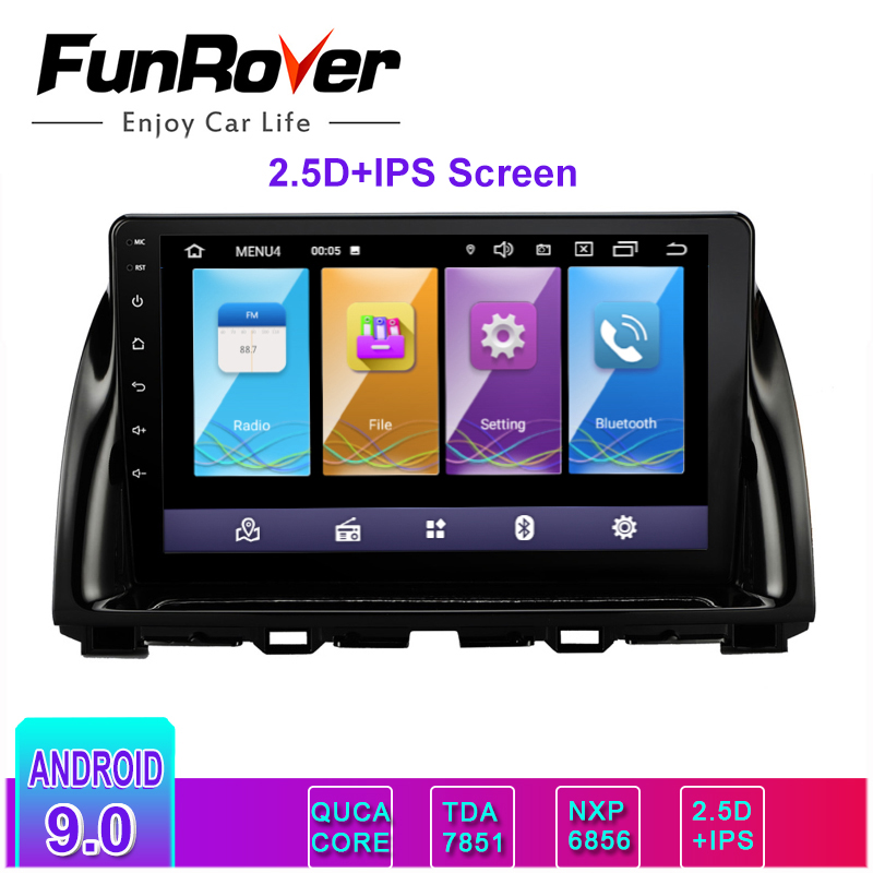 Funrover 2.5D+IPS android 9.0 2 din car multimedia player radio for <font><b>Mazda</b></font> <font><b>CX5</b></font> CX-5 2013-2016 gps <font><b>navigation</b></font> stereo no dvd rds bt image