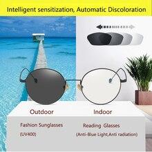 Round Filter Computer Glasses For Blocking UV Anti Blue Light Eye Eyestrain Transition Photochromic Gaming Glasses Women Men