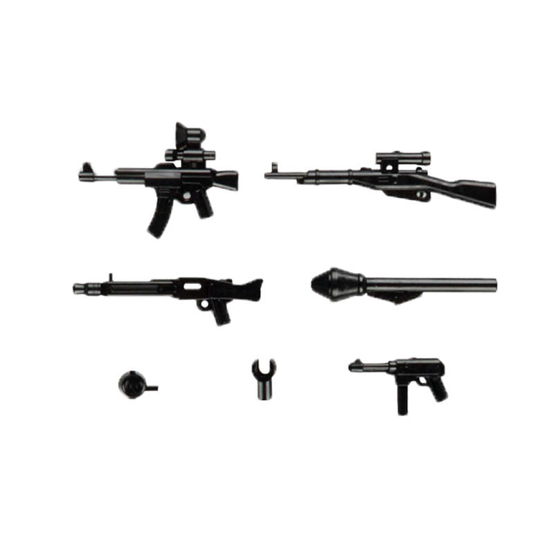 lego military weapons guns blocks 4