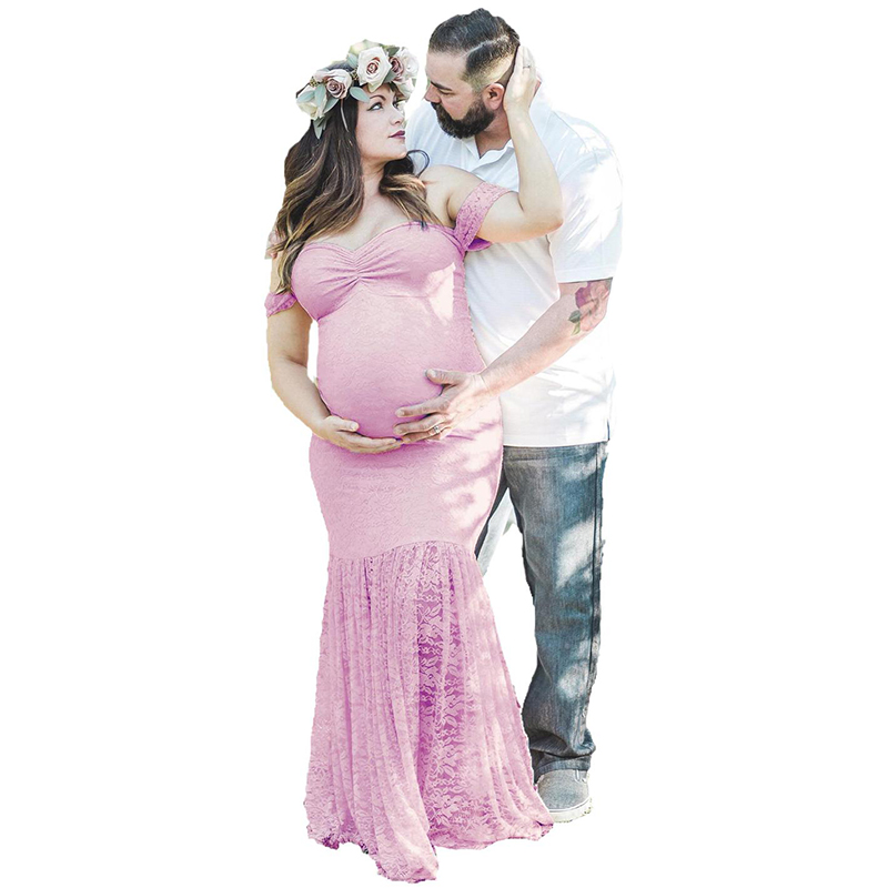 Lace Maternity Photography Props Dresses For Pregnant Women Clothes Photo Shoot Pregnancy