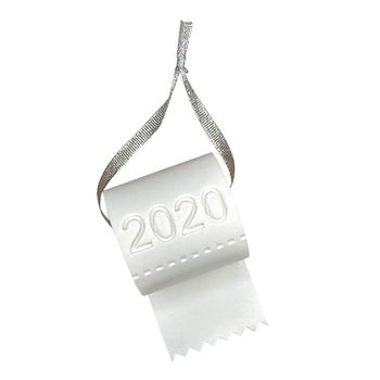 2020 Quarantine Christmas Ornament Christmas Tree Hanging Toilet Paper Crisis Ornament Decoration 2020 Funny Gift Navidad image