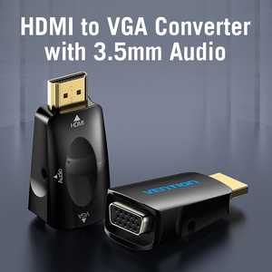 Image 3 - Vention HDMI to VGA Adapter HDMI Male to VGA Felame HD 1080P Audio Cable Converter With 3.5 Jack for PS4 Laptop PC Box Projector