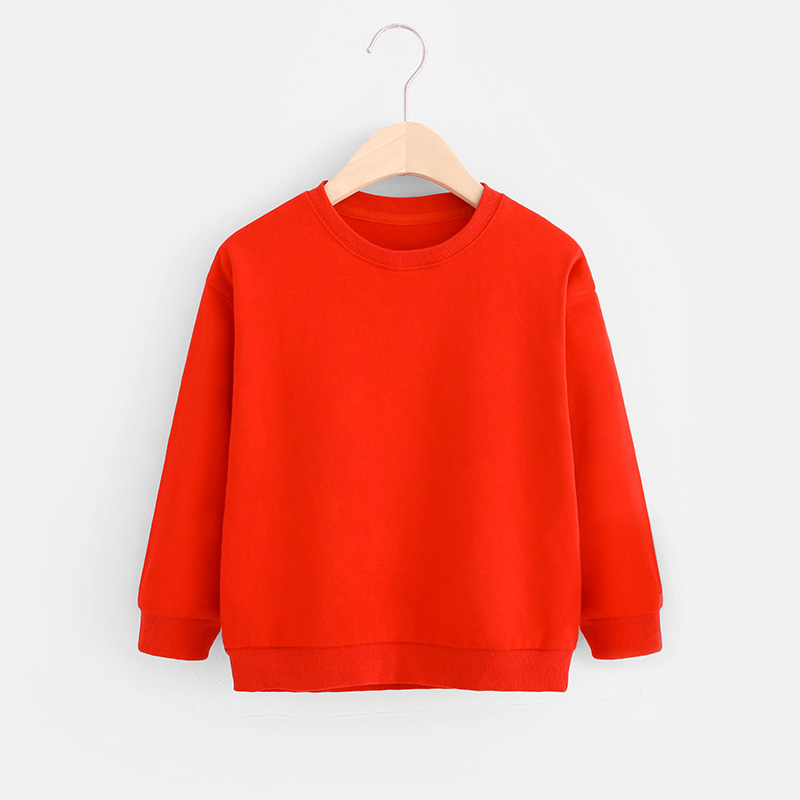 Kids Boys Solid Color T-shirts Sweatshirt Tops Baby Long Sleeve Children Autumn Spring Boy Girl Cotton T Shirts Clothes 3
