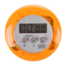 Digital Magnetic LCD Timer Stop Watch Kitchen Cooking Countdown - Orange