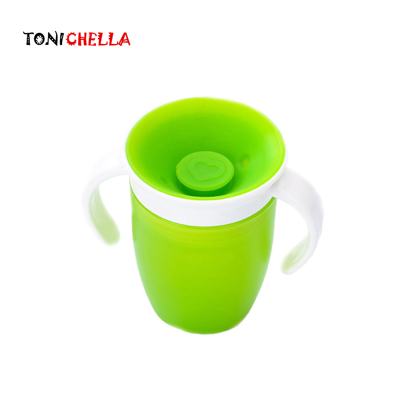 Baby Learning Drinking Cup 360 Kid Safe Silicone Degree Leak-Proof Bottle Magic Cups Toddler Drink Training Contaier T0744