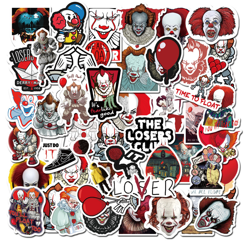 50PCS Newly Movie It Chapter Two Stickers For Chidren Toy Waterproof To DIY Laptop Bicycle Helmet Car Decals Sticker