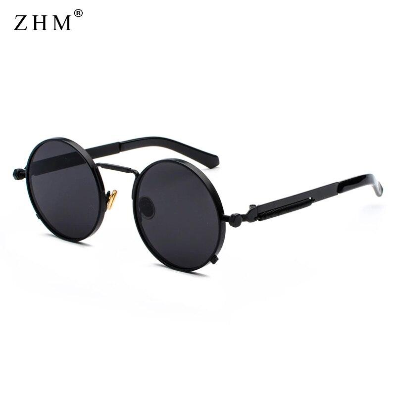Sonnenbrille Spiegel Vintage Retro Steampunk Round Mann Frau Modell 2020