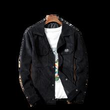 Jacket Men's Corduroy coat Men's Solid Color Single-breasted Lapel Casual Jacket Autumn New Big Pocket Decorative Men's Jacket new ladies autumn corduroy retro jacket