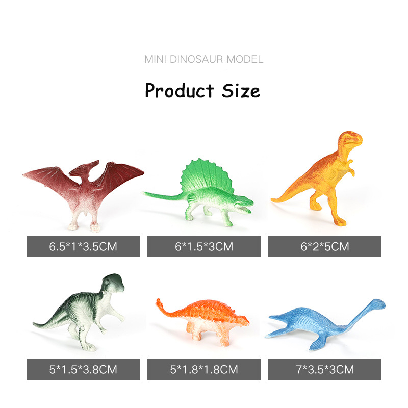 10Pcs/Lot Batch Mini Dinosaur Model Children\'S Educational Toys Cute Simulation Animal Small Figures For Boy Gift For Kids Toys