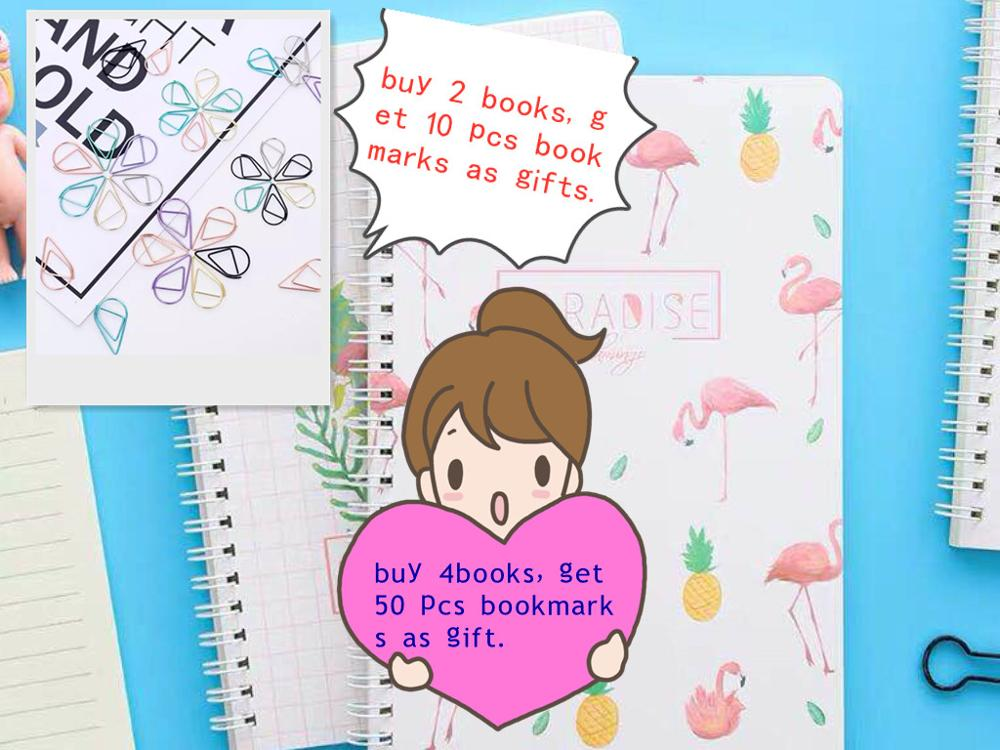Creative stationery flamingo notepad A5 notebook small fresh coils this hand ledger student supplies 120 pages