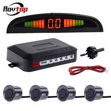 Rovtop автомобильный зуммер светодиодный дисплей датчик парковки Комплект 4 датчика s 22 мм для Автомобильный радар заднего хода монитор детектор системы Z2