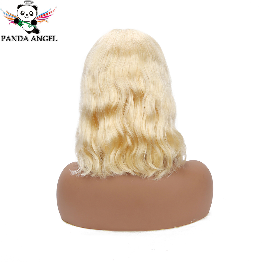 Panda 13x4 Blonde Body Wave Lace Frontal Human Hair Wigs Malaysia 1b/613 Blue Gray Pink #613 Short Bob Wigs Remy 150% Density