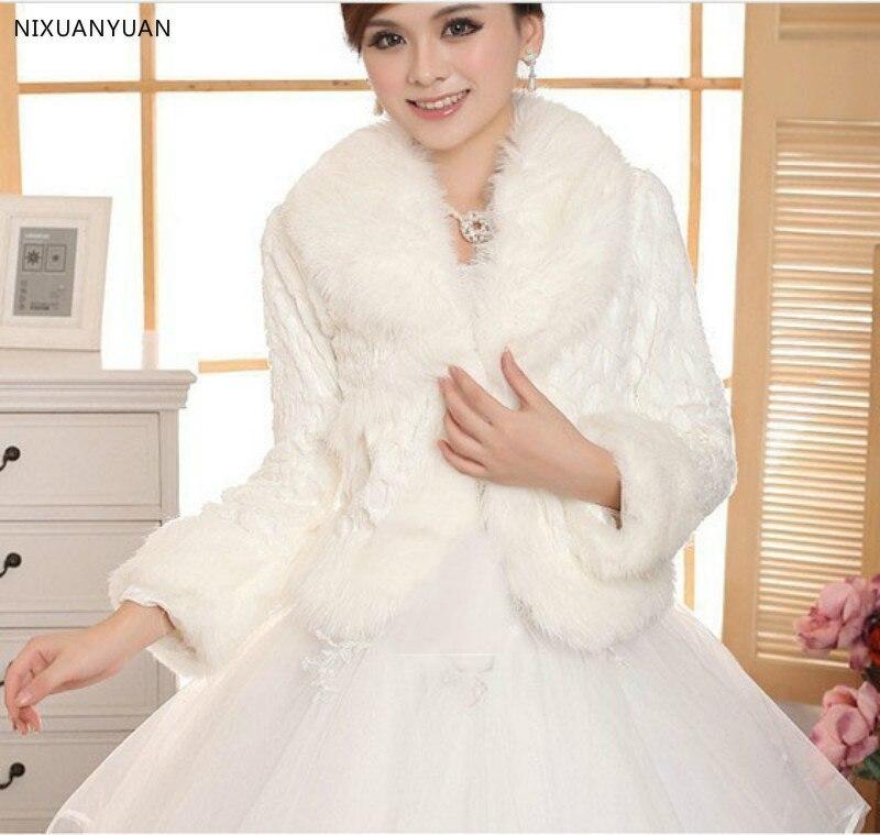 Bridal Shawl Ivory Wedding Accessories Faux Fur Winter Wedding Coat Wrap Shrug Bolero Wedding Accessories