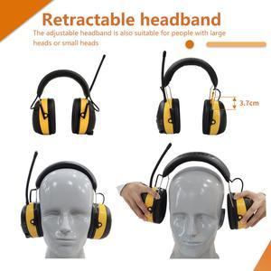 Image 3 - Fryzjerem cyfrowy AM/FM Stereo Radio nauszniki NRR 24dB ochrona słuchu do koszenia, profesjonalnego ochronników słuchu słuchawki Radio