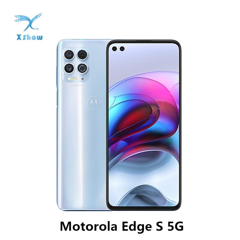 Оригинальный Motorola Moto край S 5G смартфон 6,7 дюймов Snapdragon 870 5000mAh аккумулятор большой емкости 64MP + 16MP NFC отпечатков пальцев сотовые телефоны