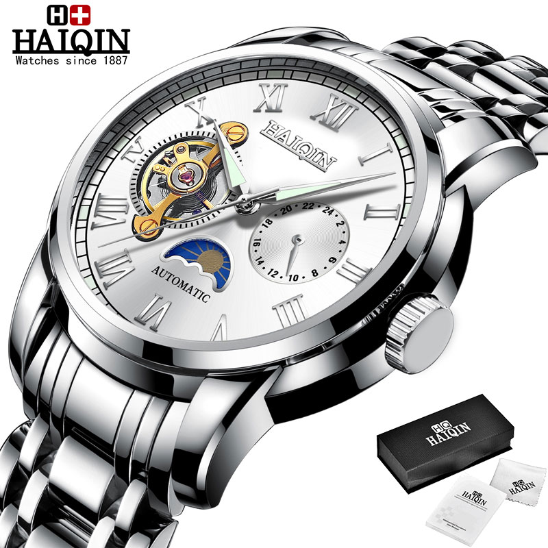 HAIQIN Mechanical watches mens automatic wrist watch for mens watches top brand luxury watch men Tourbillon relojes hombre 2020 7