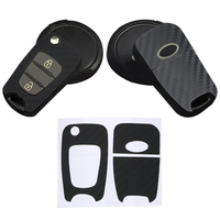 Tamanho especial 1 pçs acessórios interiores para hyundai rena lang chave etiqueta do carro de proteção de fibra carbono