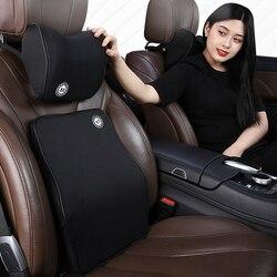 Car memory cotton headrest neck pillow waist pillow  Car  For Mercedes Benz W163 M-Class ML230 270 320 350 430 500 1997-2005