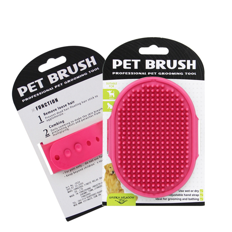 5pcs Pet Bath Brush Comb Dog Cat Massage Brush Rubber Glove Hair Fur Grooming Massaging Scrub , Glove For Cats Pet Hair Glove