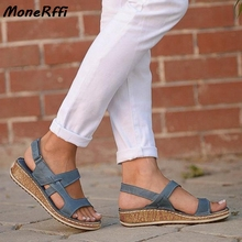Dropshipping New Summer Women Sandals 3 Color Stitching Sandals