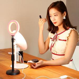 Image 5 - PULUZ 4.7 inç 12cm USB 3 modları kısılabilir LED halka vlog fotoğraf Video ışıkları soğuk ayakkabı ile Tripod döngüsü kafa selfi ışığı