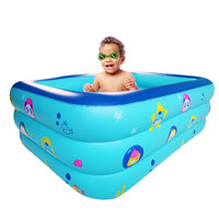 Children Inflatable Square Swimming Pool Inflatable Bathtub Kids Summer Water Fun Play Filter Summer Play Pool d3