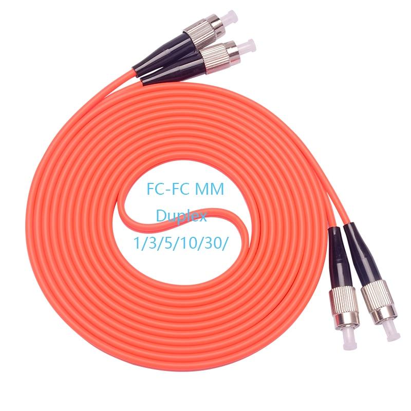 5 шт./лот FC/UPC-FC/UPC оптоволоконный патч-корд 1 м 2 м 3 м 5 м дуплексный многорежимный кабель фотооптический волоконный перемычка