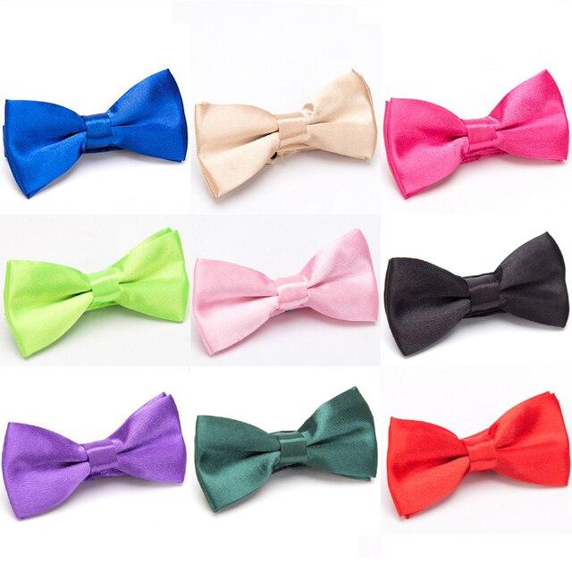 Dzieci Kid Bowtie kokardka dla dzieci krawat moda zielony czerwony czarny biały zielony zwierzęta Cravate krawaty akcesoria chłopcy Grils Bowtie