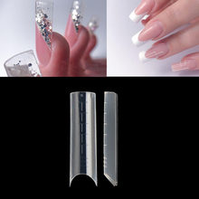 Halbe Abdeckung C Kurve Dual System Nagel Formen Arch Top Formen UV Nagel Acryl Gel Erweitert Falsche Tipps