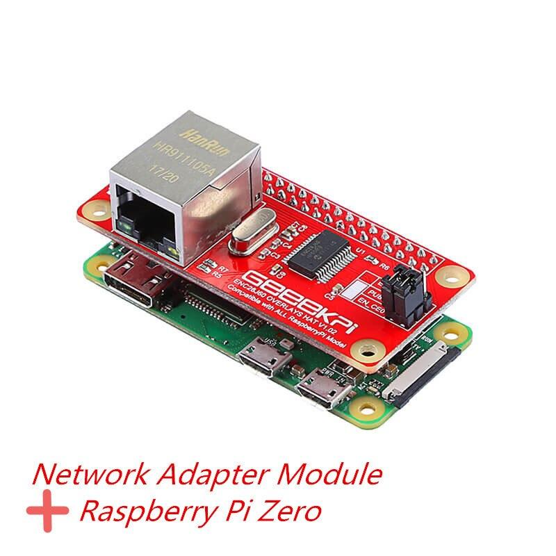 Elecrow Raspberry Pi zéro avec adaptateur réseau ENC28J60 Module bricolage Kit d'apprentissage Compatible avec tous les modèles Raspberry pi