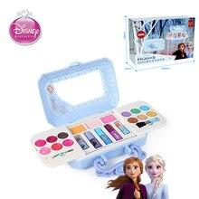 Disney girls frozen księżniczka elza kosmetyki zestaw do makijażu polskie pudełko do makijażu kosmetycznego z oryginalnym pudełkiem dla dzieci prezent gwiazdkowy