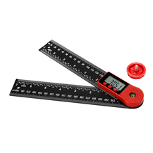 2-in-1 0-200/300mm Electronic Digital Protractor Angle Finder Ruler Measurement Multifunctional 360 Degrees Inch Scale Rulers