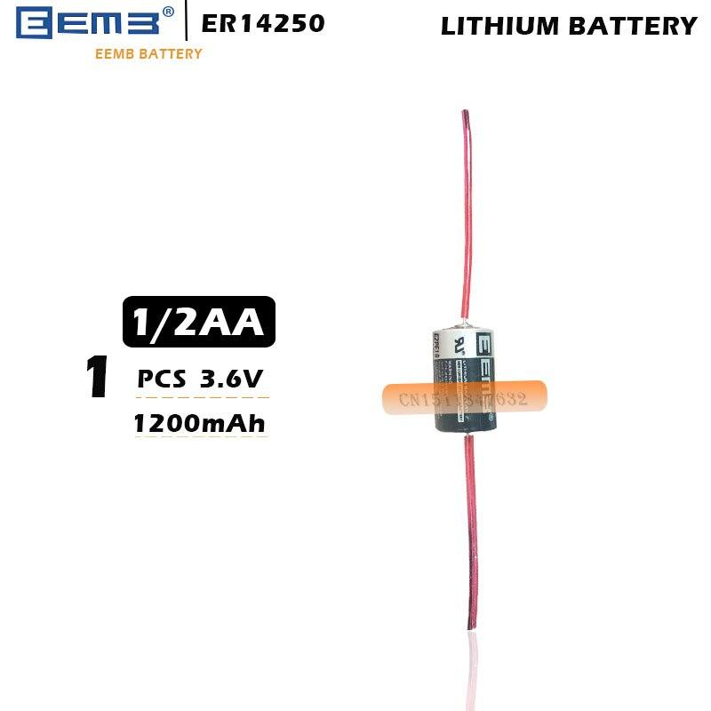 Darmowa wysyłka 1 sztuk/partia EEMB ER14250 1/2AA 3.6V 1200mAh bateria litowa ze spawaniem