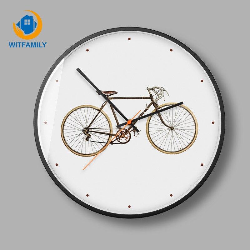 Horloge murale moderne minimaliste en bois silencieux salon créatif montres à Quartz accessoires de décoration de chambre horloges murales rondes