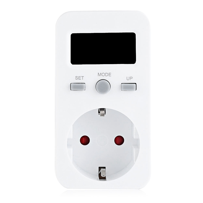 Eu Plug Plug-In Digital Wattmeter Lcd Energy Monitor Power Meter Electricity Electric Swr Usage Monitoring Socket (Eu