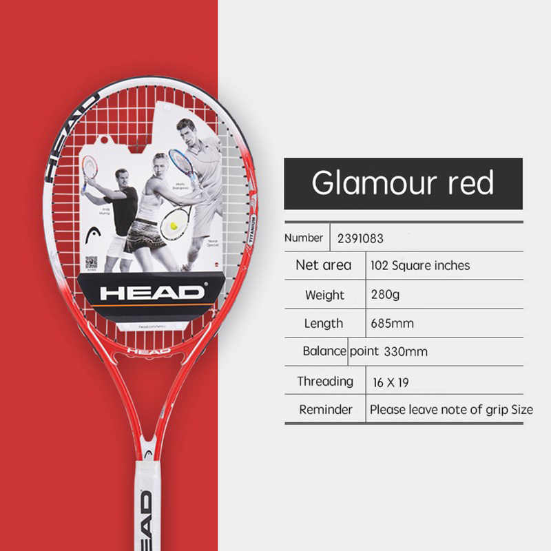 Professional Man Women Tennis Racket Training HEAD Tennis Racket Large Tennis String Fixed Good Overgrip Padel Tennis