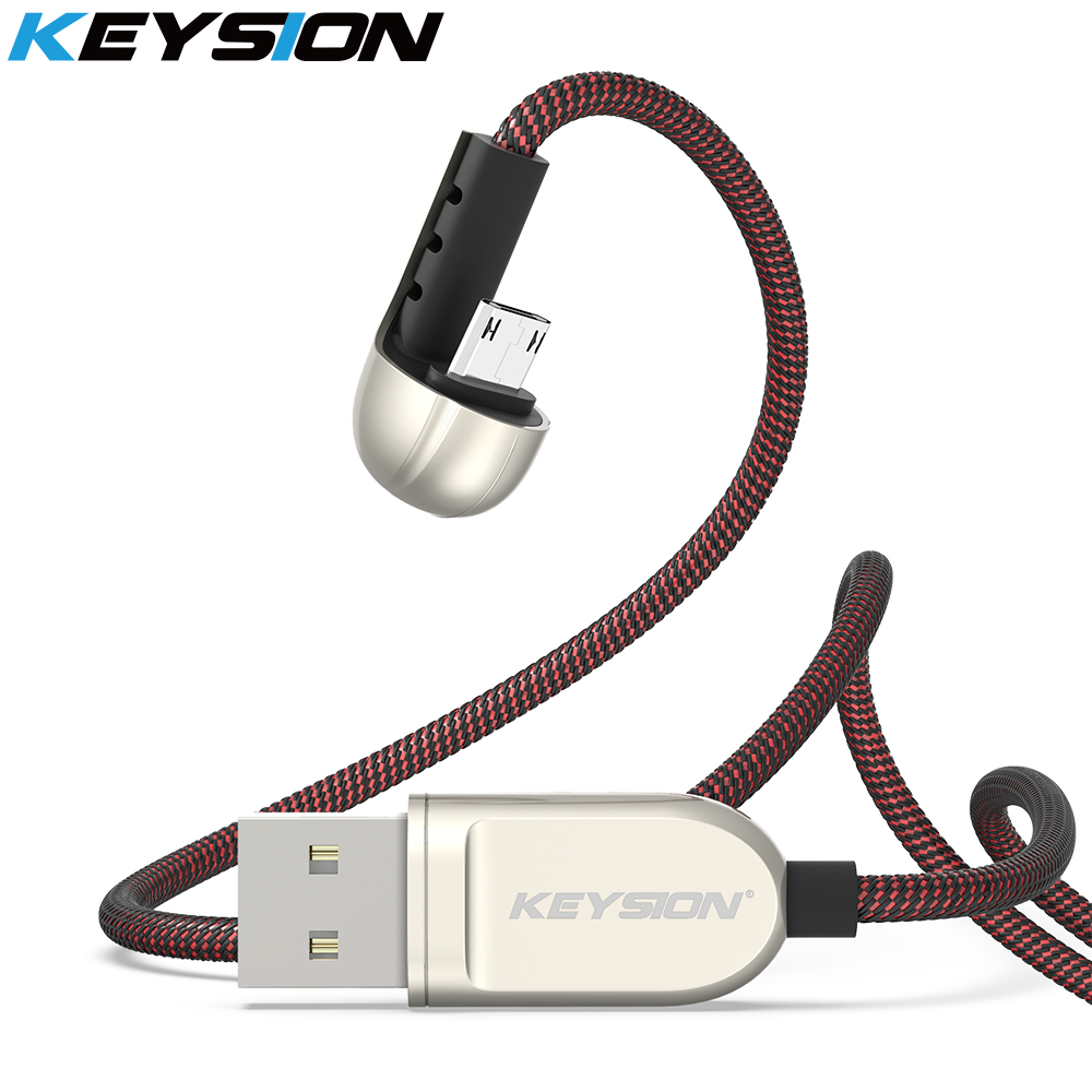 KEYSION Micro USB Cable 2.4A Fast Charger Game Cord for Samsung S6 S7 J5 1m Mobile Phone Gaming Cable for Xiaomi Redmi Note 5|Mobile Phone Cables| |  - AliExpress
