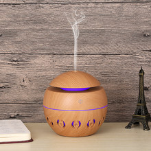 Air Humidifier 130ml Aroma Diffuser น้ำมันหอมระเหยไม้ 7 สีเปลี่ยนไฟ LED สำหรับ Office Home(China)