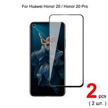2 шт для honor 20 pro 20s полное покрытие защита экрана защитное