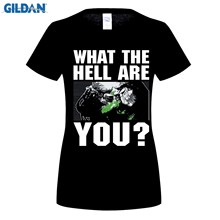 100% Cotton O-neck printed T-shirt Predator T Shirt Face What The Hell Are You for men(China)