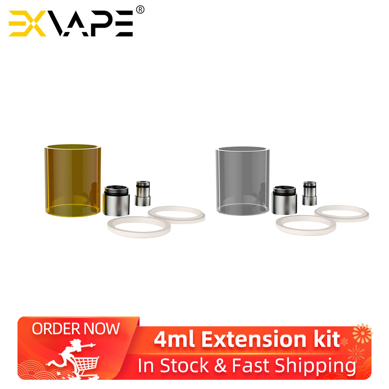 2Pcs Original ExVape Expromizer V4 MTL RTA Atomizer 4ml Extension Kit Acrylic & Pyrex Glass Tube Replacement Accessories