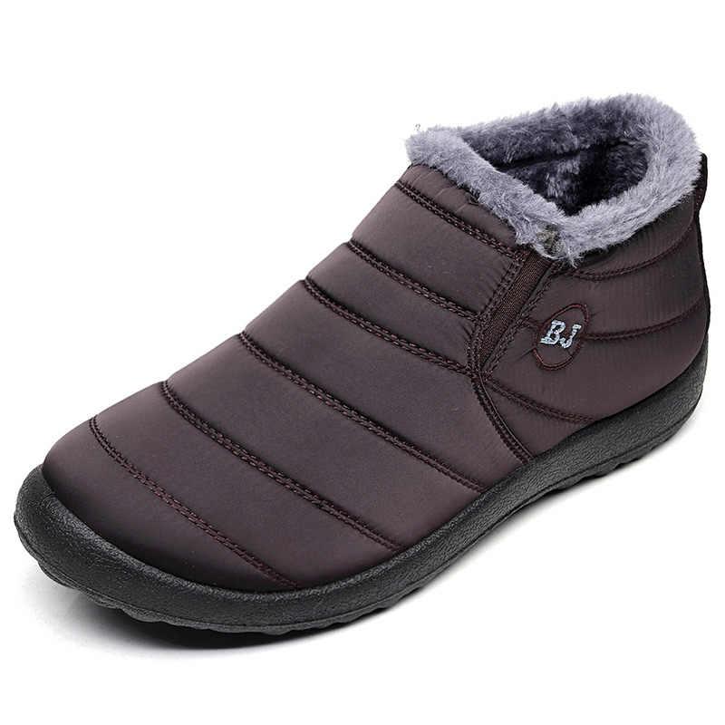 Winter Schoenen Mannen Laarzen 2019 Mannen Snowboots Mode Mannen Enkellaars Waterdichte Schoenen Warm Bont Slip Mannelijke Schoenen