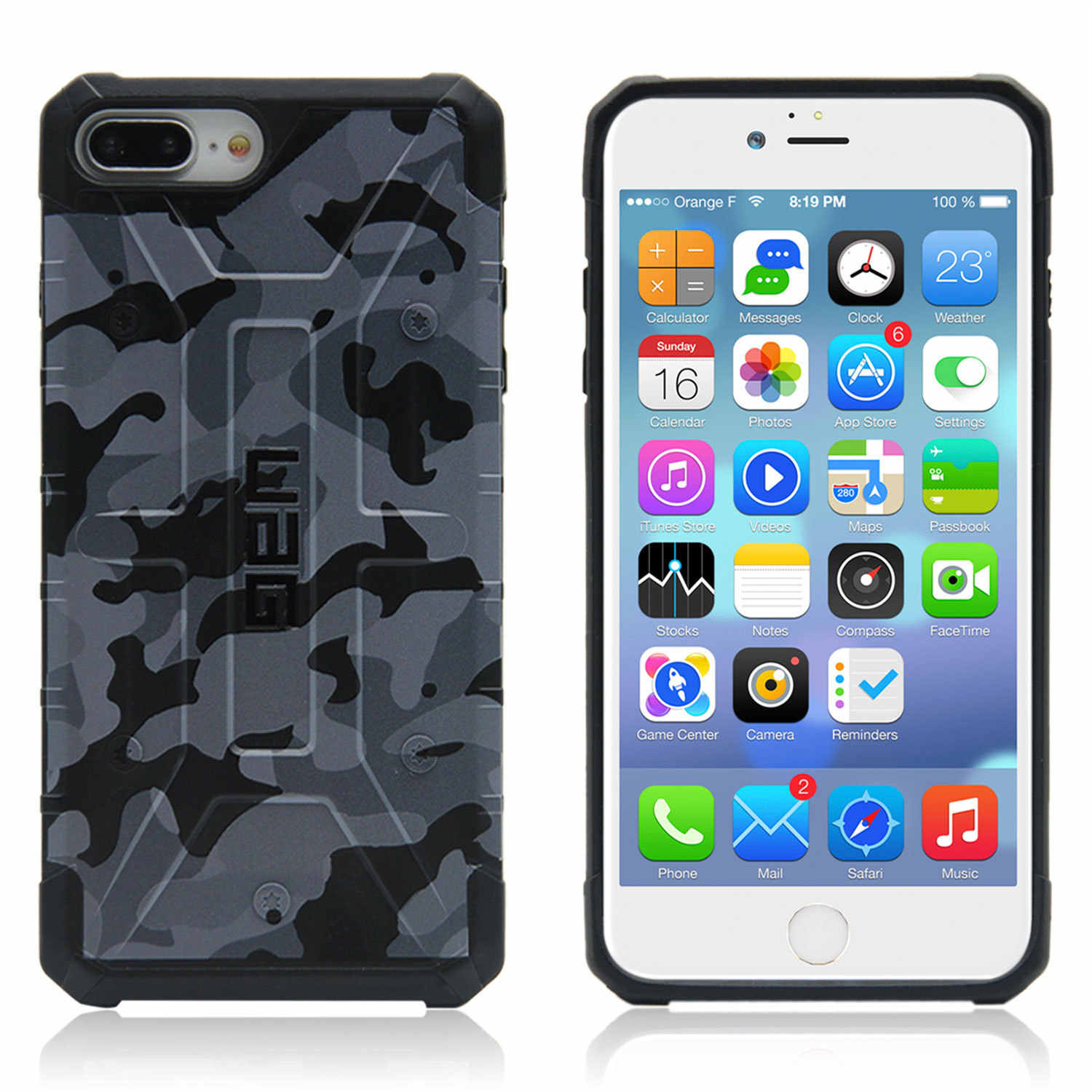 Suitable for iPhone 7 7 plus Classic Style Camouflage Phone Case with Packaging Do Unisex XR Black And White